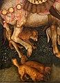Pisanello, visione di sant'eustachio, 1438-42 ca. 06 cani.jpg