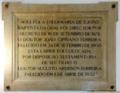 Placa Enfermaria de S. João Baptista, Hospital de São José.png