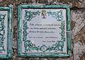 Placa amb poema de Vicent Andrés Estellés a l'ermita de santa Llúcia, Dénia.JPG