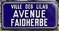 Plaque Avenue Faidherbe - Les Lilas (FR93) - 2021-04-28 - 1.jpg