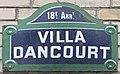 Plaque Villa Dancourt - Paris XVIII (FR75) - 2021-08-04 - 1.jpg