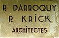 Plaque architecte P. Darroquy - P. Krick Touquet-Paris-Plage.jpg