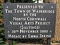Plaque for Wadebridge mosaic - geograph.org.uk - 380764.jpg