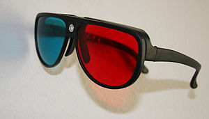 Anaglyph 3D - Plastic anaglyph glasses can employ diopter correction for improved viewing.