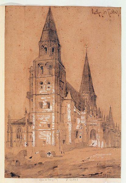 File poissy dessin wikimedia commons - Eglise dessin ...