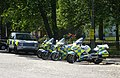 Police motorcycles, Holyrood Palace - geograph.org.uk - 1336634.jpg