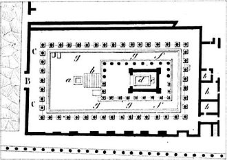 Temple of Apollo (Pompeii) - Plan of the Temple