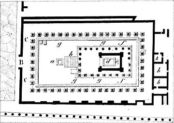 Plan of the Temple of Apollo (Pompeii) Pompeii Regio 07 Insula 07 Temple of Apollo plan 01.jpg