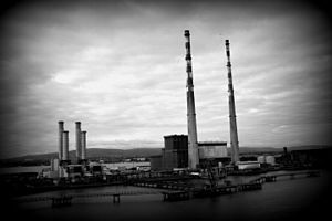 Poolbeg Generating Station - Poolbeg generating station after being closed down