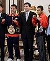 Poonsawat Kratingdaenggym, Abhisit Vejjajiva, Denkaosan Kaovichit.jpg