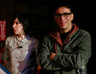 Portlandia (TV series) - Carrie Brownstein and Fred Armisen, stars of the show.