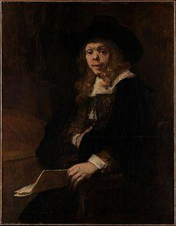 <i>Portrait of Gerard de Lairesse</i> painting by Rembrandt (Rembrandt van Rijn)