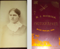 Portrait of woman by H J Nichols of Blue Rapids Kansas USA.png