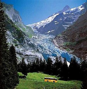 PostBus Switzerland - A PostBus bus near Grindelwald