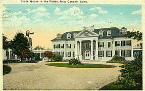 PostcardGraceHouseNewCanaanCTca1915