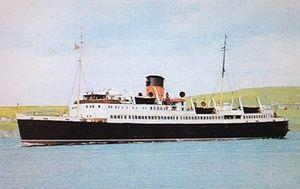 SS Mona's Isle (1950) - Postcard image of Mona's Isle.