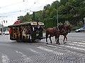 Průvod tramvají 2015, koňka 90, u tunelu.jpg