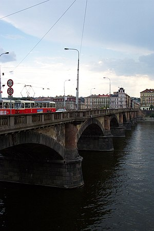 Palacký Bridge - View of the north side of the bridge