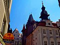 Praha - U starého hřbitova - View ESE on Jewish Town Hall.jpg
