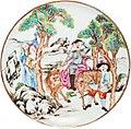 Prato de porcelana chinesa com D. Quixote e Sancho Pança.jpg