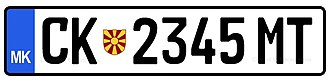 Vehicle registration plates of North Macedonia - Image: Predlog kirilica