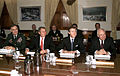 President-elect Bush gets briefed by Secretary Cohen & General Shelton.jpg