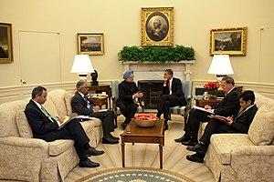 President Barack Obama and Prime Minister Manm...