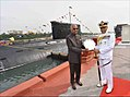 President Ram Nath Kovind awards the President's Colour to the Submarine Arm of Indian Navy (7).jpg