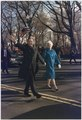 President and Mrs. Bush walk along Pennsylvania Avenue after the President's Inauguration - NARA - 186388.tif
