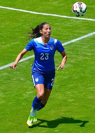 Christen Press - Press playing for the U.S. at Avaya Stadium, May 2015