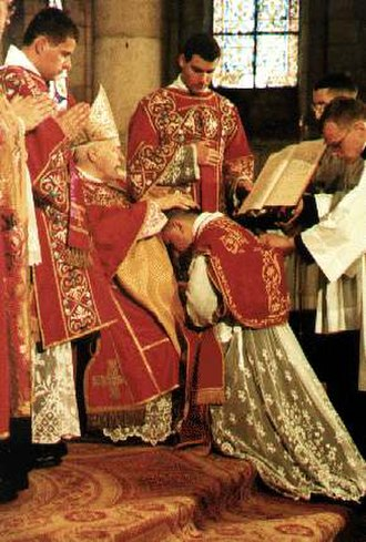 Ordination - Ordination of a Catholic priest (pre-1968 form of the Roman Rite).