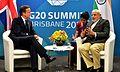 Prime Minister Cameron meets Prime Minister Modi in Brisbane, Australia.jpg