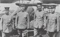 Princes of Japan and Korea at Kakamigahara air base in 1919.png