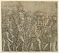 Print, A part of the Triumph of Caesar as painted by Andrea Mantegna (1431-1506)- Soldiers Carrying Trophies, ca. 1500 (CH 18097415).jpg