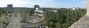 Call of Duty 4: Modern Warfare - Part of the game takes place in Pripyat, Ukraine, featuring several iconic aspects of the abandoned city, such as this square.