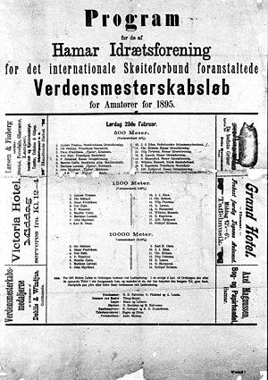 1895 World Allround Speed Skating Championships - Official program