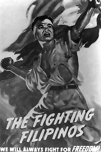 Philippine resistance against Japan - Propaganda poster depicting the Philippine resistance movement