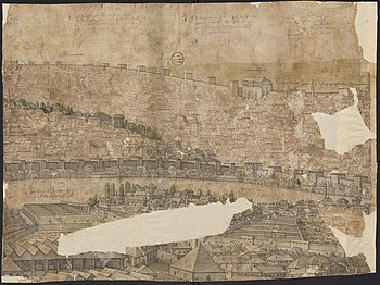 Part of the panoramic view of Constantinople- the western shore of the Golden Horn