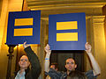 Protest against a constitutional amendment banning same sex marriage.jpg