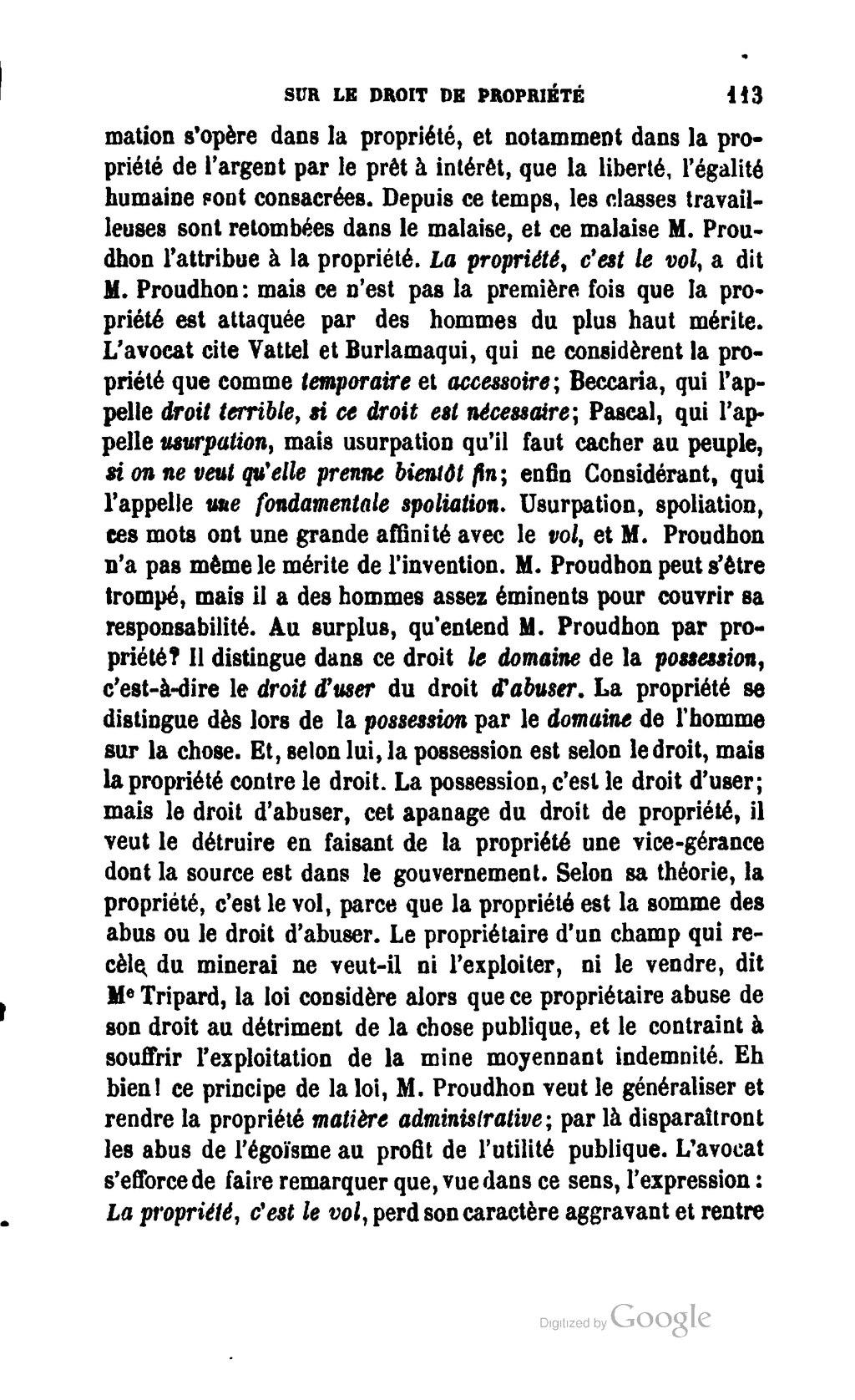 Page Proudhon Explications Sur Le Droit De Propriete Djvu 21