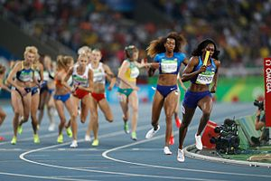 Athletics at the 2016 Summer Olympics – Women's 4 × 400 metres relay - Image: Provas de Atletismo nas Olimpíadas Rio 2016 (29004554952)