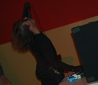 Dominick Fernow - Prurient performing live in 2007