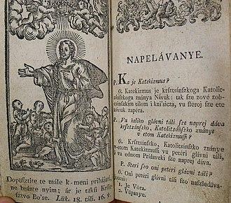 Prekmurje - Miklós Küzmics's catechism in the Prekmurje dialect from 1804