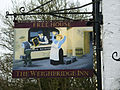 Pub sign, Weighbridge Inn, Longfords, Minchinhampton - geograph.org.uk - 1746547.jpg
