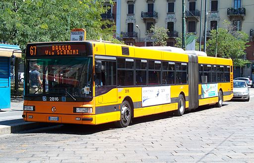 Public bus in Milan, Italy