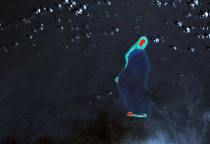 Pulap - Landsat picture of Pulap Atoll