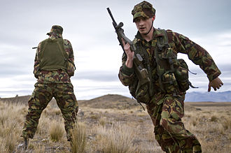 New Zealand Defence Force - Two soldiers from the Queen Alexandra's Mounted Rifles during an exercise in 2010