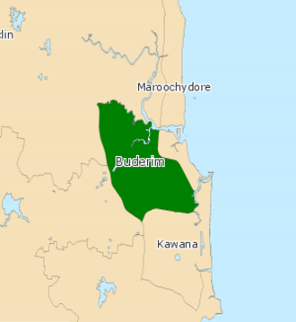 Electoral district of Buderim - 2008 map