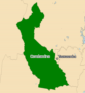 Electoral district of Condamine - Electoral map of Condamine 2008
