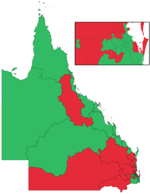 Queensland term length referendum, 2016 - Image: Qld Referendum 2016 district results